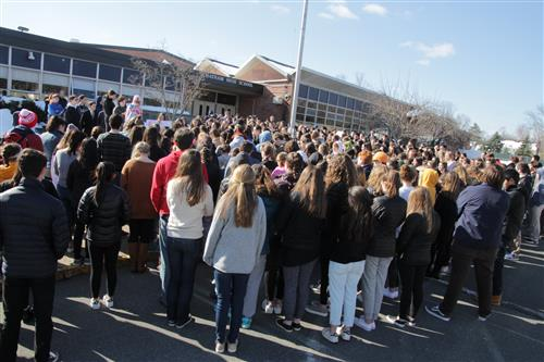 CHS Students Participated in the National School Walkout on March 14